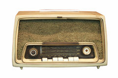 Vintage radio. On a white background with clipping path Stock Image