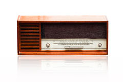 Vintage radio on the white Stock Photo