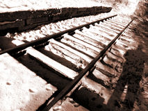 Vintage rail track Stock Images