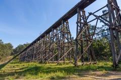 Vintage railroad bridge ruins Royalty Free Stock Photo