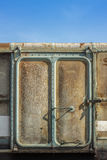 Vintage railroad container door Royalty Free Stock Image