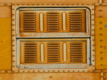 Vintage railroad container doors Royalty Free Stock Images