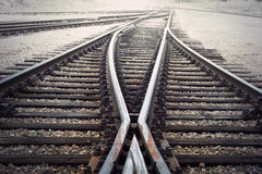 Vintage railroad junction Royalty Free Stock Images
