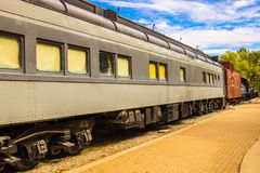 Vintage Railroad Passenger Car At Railroad Siding Royalty Free Stock Images