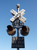 Vintage Railroad Signal. Warns motorists to stop Royalty Free Stock Images