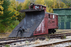 Vintage Railroad Snowplow Stock Photos