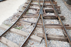 Vintage railroad tracks Royalty Free Stock Photos