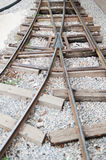 Vintage railroad tracks Royalty Free Stock Images