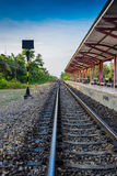 Vintage railroad train. In thailand Stock Photo
