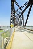 Vintage railway bridge repurposed as a walkway across the Ohio r. Iver stock photos