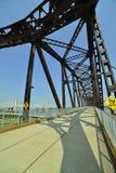 Vintage railway bridge repurposed as a walkway across the Ohio r. Iver stock photography