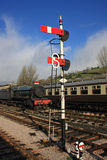 Vintage railway signal Stock Images