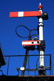 Vintage railway signal Stock Images