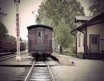 Vintage railway station Royalty Free Stock Photo