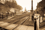 Vintage railway station Stock Image