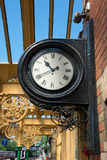 Vintage railway station wall mounted clock. Royalty Free Stock Photos