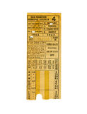 Vintage railway ticket Royalty Free Stock Images