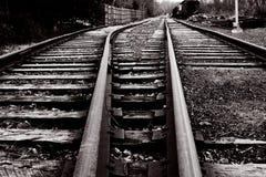 Vintage railway tracks Royalty Free Stock Image