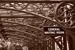 Vintage Railway Waiting Room Royalty Free Stock Images