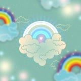 Vintage_rainbow Imagen de archivo