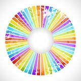 Vintage rainbow round postcard Royalty Free Stock Photography