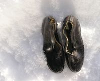 Vintage raining shoes1 Royalty Free Stock Photo