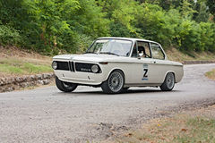 Vintage rally car BMW Stock Image