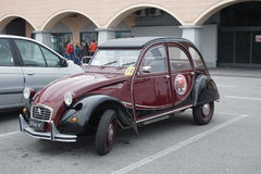 Vintage rally Citroen 2CV Stock Image