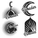 Vintage ramadan emblems vector illustration