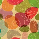 Vintage Random Colorful Circles Background Royalty Free Stock Photo
