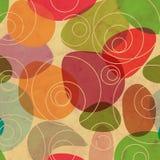 Vintage Random Colorful Circles Background stock illustration