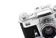 Vintage rangefinder analog camera Royalty Free Stock Image