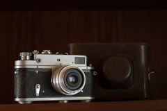 Vintage Rangefinder Camera Royalty Free Stock Photo