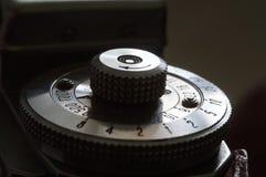 Vintage rangefinder shutter speed dial royalty free stock photo