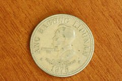 Vintage rare Ferdinand Marcos coin royalty free stock photography