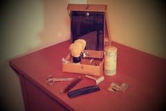 Vintage rasant des accessoires Plan rapproché Ajoutez le rétro effet Photographie stock