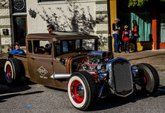 Vintage Rat Rod. Perfectly restored Rat Rod, on display at the 3rd Annual Rockabillque, held in North Charleston, SC on November 14, 2015 Stock Image