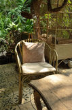 Vintage rattan armchair Royalty Free Stock Photography