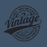 Vintage raw denim typographic for t-shirt,tee design. Vector illustration Royalty Free Stock Image