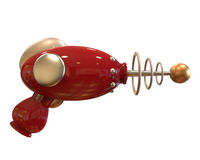 Vintage Ray Gun on white background with clipping path Stock Photo