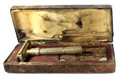 Vintage razor box stock photo