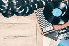 Vintage record de joueur Images stock