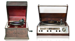 Vintage record playe Stock Images