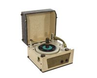 Vintage Record Player from the 1960's Royalty Free Stock Photos