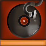 Vintage Record Player Background Royalty Free Stock Image