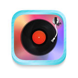 Vintage record player icon Royalty Free Stock Image