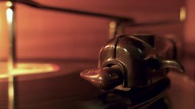 Vintage record player. Playing a vinyl disc stock video footage