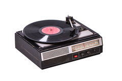 Vintage record player with radio tuner Royalty Free Stock Photos