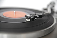 Vintage record player shot with wide aperture for abstract perce Stock Photography
