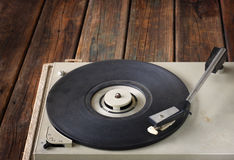 Vintage record player. vintage gramophone. Stock Photos